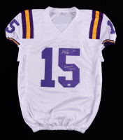"""Myles Brennan Signed Jersey Inscribed """"Geaux Tigers!"""" (PSA COA) at PristineAuction.com"""