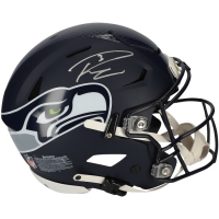 Russell Wilson Signed Seahwaks Full-Size Authentic On-Field SpeedFlex Helmet (Fanatics Hologram) at PristineAuction.com