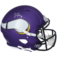 Justin Jefferson Signed Vikings Full-Size Authentic On-Field Speed Helmet (Fanatics Hologram) at PristineAuction.com