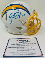 Justin Herbert Signed Chargers Speed Mini Helmet (Fanatics Hologram & Beckett Hologram) at PristineAuction.com