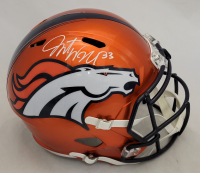Javonte Williams Signed Broncos Full-Size Flash Alternate Speed Helmet (Beckett Hologram) at PristineAuction.com