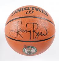 Larry Bird Signed Celtics Logo NBA Game Ball Series Basketball (Schwartz Sports COA) at PristineAuction.com