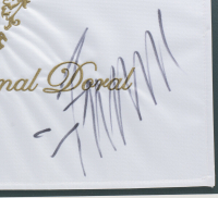 Donald Trump Signed 22x27 Custom Framed Pin Flag Display (JSA COA) at PristineAuction.com
