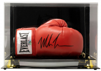 Mike Tyson Signed Everlast Boxing Glove With Display Case (JSA COA & Tyson Hologram) at PristineAuction.com