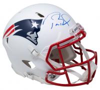 Tom Brady Signed Patriots Authentic On-Field Matte White Speed Helmet (Fanatics Hologram) at PristineAuction.com