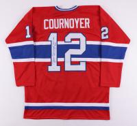 "Yvan Cournoyer Signed Jersey Inscribed ""H.O.F. 1982"" (JSA Hologram) at PristineAuction.com"
