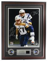 Tom Brady & Rob Gronkowski Signed Patriots 22x27 Custom Framed Photo Display (Tristar Hologram & Steiner COA) at PristineAuction.com