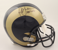 """Marshall Faulk Signed Rams Full-Size Authentic On-Field Helmet Inscribed """"HOF 20XI"""" (Beckett Hologram) at PristineAuction.com"""