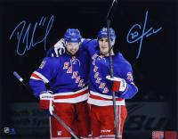 Rick Nash & Chris Kreider Signed Rangers 11x14 Photo (YSMS COA & Kreider Hologram) at PristineAuction.com