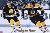 Milan Lucic Signed Bruins 12x18 Photo (YSMS COA) at PristineAuction.com