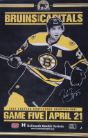 Patrice Bergeron Signed Bruins 11x17 Promotional Poster (Bergeron COA) at PristineAuction.com