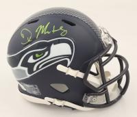 DK Metcalf Signed Seahawks Speed Mini Helmet (Beckett COA) at PristineAuction.com