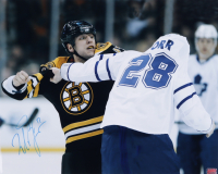Milan Lucic Signed Bruins 16x20 Photo (YSMS COA) at PristineAuction.com