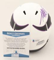 Adrian Peterson Signed Vikings Lunar Eclipse Alternate Speed Mini Helmet (Beckett COA) at PristineAuction.com