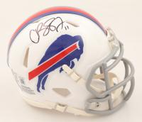 Cole Beasley Signed Bills Speed Mini Helmet (Beckett COA) at PristineAuction.com