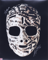"""Gerry Cheevers Signed 16x20 Photo Inscribed """"The Mask"""" (YSMS COA) at PristineAuction.com"""