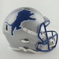 Barry Sanders Signed Lions Full-Size Speed Helmet (Schwartz Sports Hologram) at PristineAuction.com