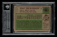 Eric Dickerson Signed 1984 Topps #280 RC (BGS Encapsulated) at PristineAuction.com