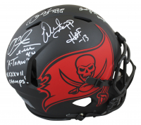 Buccaneers Full-Size Authentic On-field Eclipse Alternate Speed Helmet Signed by (4) with Warren Sapp, Derrick Brooks, Mike Alstott, Brad Johnson With Multiple Inscriptions (Beckett Hologram) at PristineAuction.com