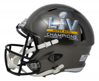 Tom Brady Signed Buccaneers Commemorative Super Bowl LV Full-Size Speed Helmet With Display Case (Fanatics LOA) at PristineAuction.com