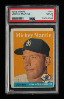 Mickey Mantle 1958 Topps #150 (PSA 2) at PristineAuction.com