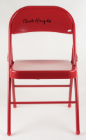 Bobby Knight Signed Red Metal Folding Chair (JSA COA) at PristineAuction.com