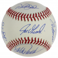 2009 World Series Logo Baseball Team-Signed by (10) with Derek Jeter, Mariano Rivera, Andy Pettitte, Jorge Posada (Steiner COA & MLB Hologram) at PristineAuction.com