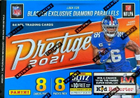 2021 Panini Prestige Football Blaster Box - 8 packs Per Box - 8 cards per Pack (64 Cards) - Look For DIAMOND EXCLUSIVES at PristineAuction.com