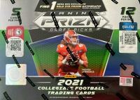 2021 Panini Prizm Draft Football Mega Box with (12) Packs - 1 MEGA EXCLUSIVE GOLD ICE PRIZM AUTOGRAPH GUARANTEED at PristineAuction.com
