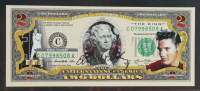 Elvis Presley LE Genuine Legal Tender Colorized U.S. $2.00 Two Dollar Bill Commemorative Edition Bank Note with Folder at PristineAuction.com