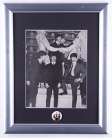 Beatles 13x16 Framed 1964 Original Vintage Photograph and 1960S Lapel Pin (See Description) at PristineAuction.com
