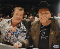 """Jerry Lawler & Jim Ross Signed 8x10 Photo Inscribed """"King"""" & """"WWE HOF 07"""" (Beckett COA) at PristineAuction.com"""