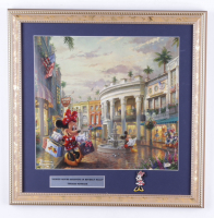 """Thomas Kinkade """"Minnie Mouse Shopping In Beverly Hills"""" 16x16 Custom Framed Print Display With Minnie Mouse Pin at PristineAuction.com"""