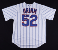 """Justin Grimm Signed Cubs Jersey Inscribed """"2016 WS Champs"""" (PSA Hologram) at PristineAuction.com"""