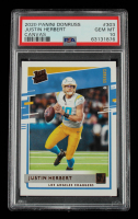 Justin Herbert 2020 Donruss Rated Rookies Canvas #303 (PSA 10) at PristineAuction.com