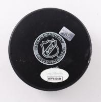 Brett Hull Signed Blues Logo Hockey Puck (JSA COA) (See Description) at PristineAuction.com