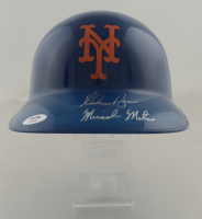 """Nolan Ryan Signed Mets Full-Size Batting Helmet Inscribed """"Miracle Mets"""" With Official Rawlings MLB Acrylic Stand (PSA COA) at PristineAuction.com"""