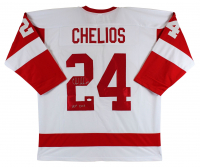 """Chris Chelios Signed Jersey Inscribed """"HOF 2013"""" (JSA COA) at PristineAuction.com"""