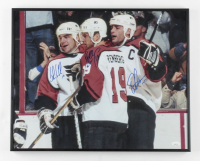 "Eric Lindros, John LeClair & Mikael Renberg Signed Flyers ""Legion of Doom"" 16x20 Custom Framed Display Photo (JSA COA) at PristineAuction.com"