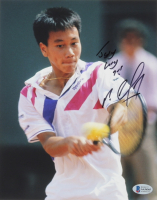 Michael Chang Signed 8x10 Photo with Inscription (Beckett COA) at PristineAuction.com