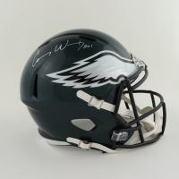 "Carson Wentz Signed Eagles Full-Size Speed Helmet Inscribed ""AO1"" (Fanatics Hologram) (See Description) at PristineAuction.com"