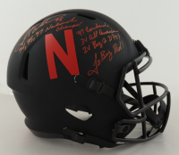 Grant Wistrom Signed Nebraska Cornhuskers Full-Size Eclipse Alternate Speed Helmet with Multiple Inscriptions (PSA COA) at PristineAuction.com