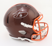 Jarvis Landry Signed Browns Full-Size Flash Alternate Speed Helmet (JSA COA) at PristineAuction.com