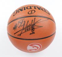 Dikembe Mutombo Signed Hawks Logo NBA Game Ball Series Basketball (Schwartz Sports COA) at PristineAuction.com