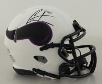 Cris Carter Signed Vikings Lunar Eclipse Alternate Speed Mini Helmet (Schwartz Sports COA) at PristineAuction.com