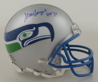 "Steve Largent Signed Seahawks Throwback Mini Helmet Inscribed ""HOF 95"" (Schwartz COA) at PristineAuction.com"