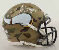 Cris Carter Signed Vikings Camo Alternate Speed Mini Helmet (Schwartz Sports COA) at PristineAuction.com