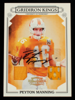 Peyton Manning 2007 Donruss Threads College Gridiron Kings Material Autographs #38 #2/25 at PristineAuction.com