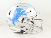 """Barry Sanders Signed Lions Full-Size Authentic On-Field Speed-Flex Helmet Inscribed """"HOF 04"""" & """"The Lion King"""" (Schwartz Sports COA) at PristineAuction.com"""