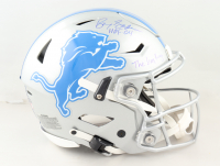 """Barry Sanders Signed Lions Full-Size Authentic On-Field Speed-Flex Helmet Inscribed """"HOF 04"""" & """"The Lion King"""" (Schwartz Sports COA) (See Description) at PristineAuction.com"""